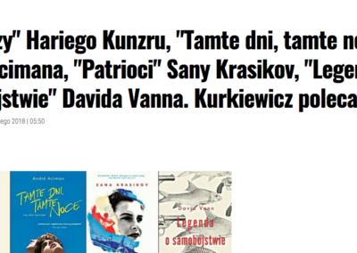 Juliusz Kurkiewicz w Magazynie Książki o Legendzie o samobójstwie