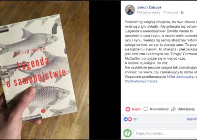 Jakub Żulczyk o Legendzie o samobójstwie