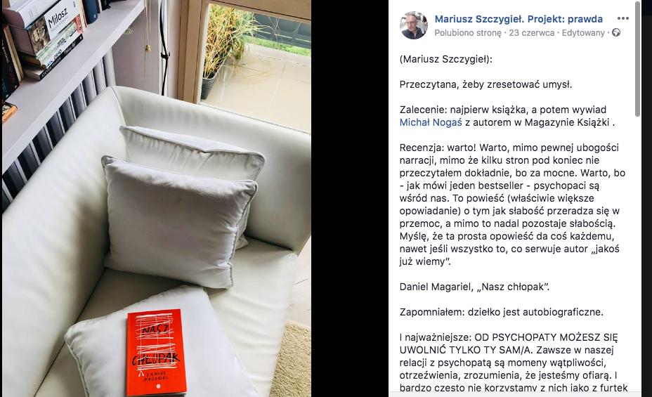 Mariusz Szczygieł o Naszym chłopaku
