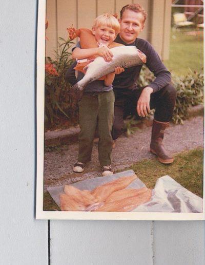 David Vann z Tatą młodszy
