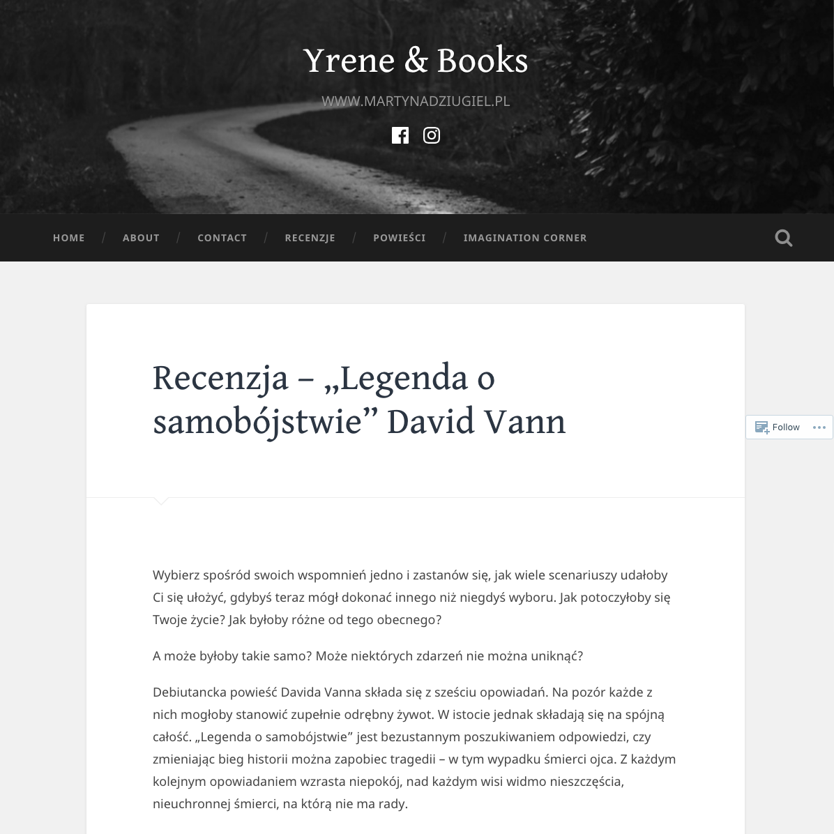 Yrene & Books o Legendzie o samobójstwie