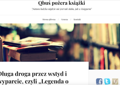 Qbuś pożera książki o Legendzie o samobójstwie