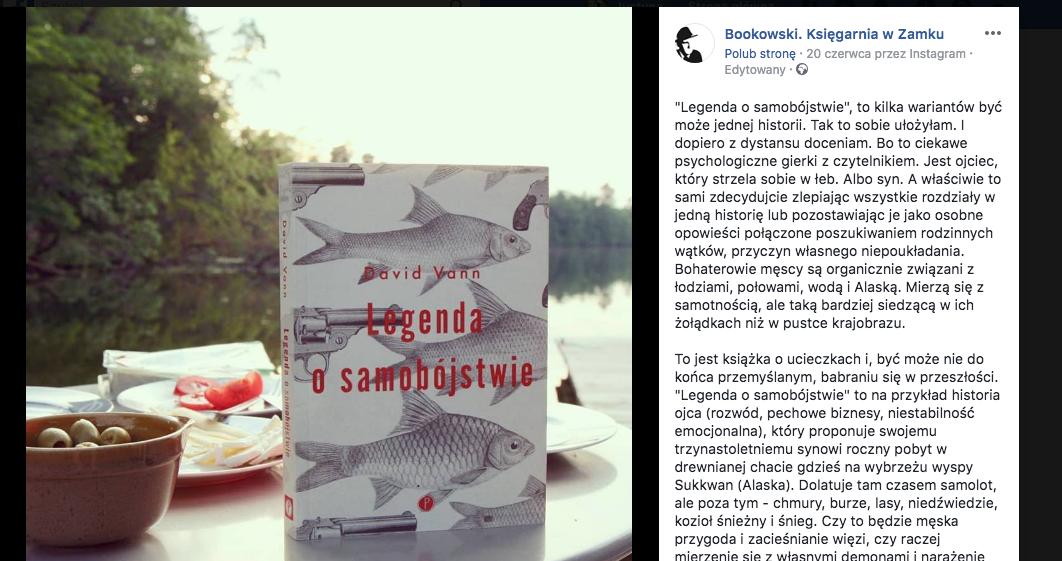 Bookowski. Księgarnia w Zamku o Legendzie o samobójstwie