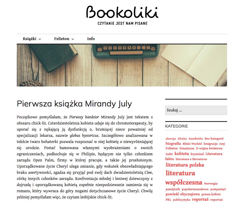 Pierwsza książka Mirandy July