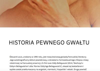 Jarosław Pietrzak o Historii przemocy