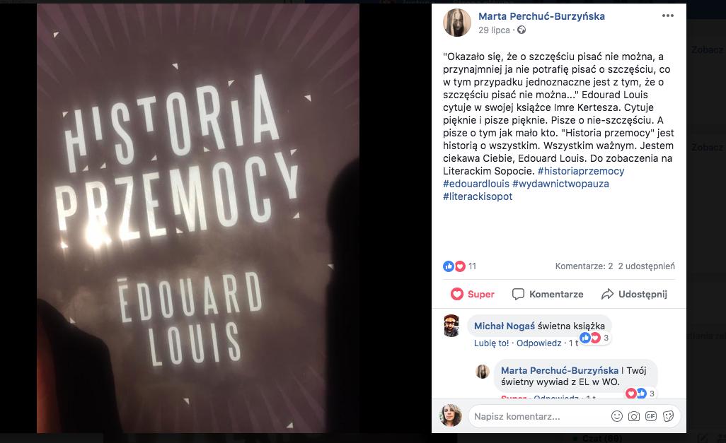 Marta Perchuć-Burzyńska o Historii przemocy