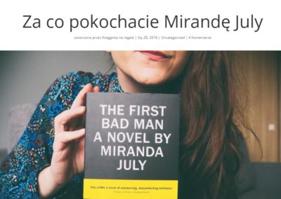 Księgarka na regale o Mirandzie July