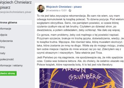 Wojciech Chmielarz o Tirzie