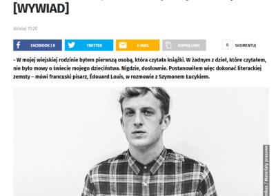 Edouard Louis wywiad o Historii przemocy