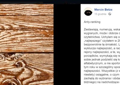 Marcin Bełza poleca