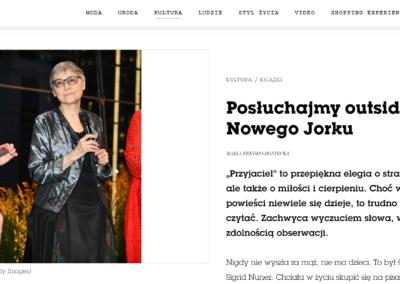 """Vogue PL o """"Przyjaciel"""""""