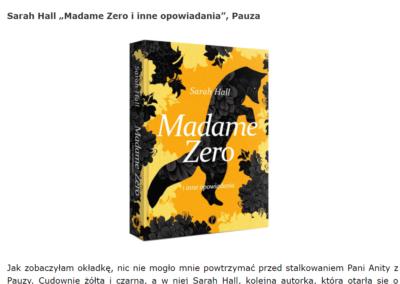 """Książki są niebezpieczne o """"Madame Zero i inne opowiadania"""""""