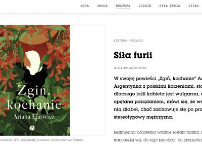 """Vogue Polska o """"Zgiń, kochanie"""""""
