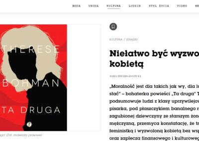 """Vogue Polska o """"Ta druga"""""""
