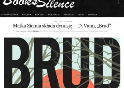"Books Silence o powieści ""Brud"""