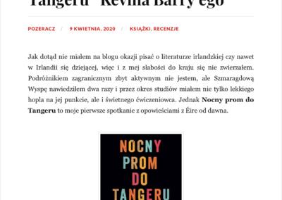 """Qbuś Pożera Książki o """"Nocny prom do Tangeru"""""""
