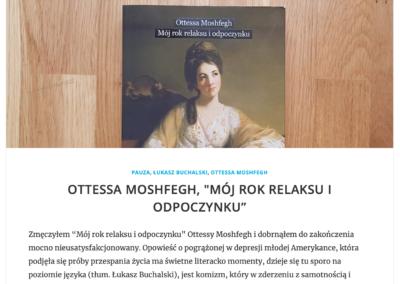 """Wojciech Szot (""""Zdaniem Szota"""") o """"Mój rok relaksu i odpoczynku"""""""