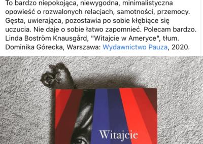 """Café Littéraire o powieści """"Witajcie w Ameryce"""""""