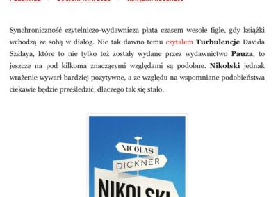 """Qbuś Pożera Książki o """"Nikolski"""""""