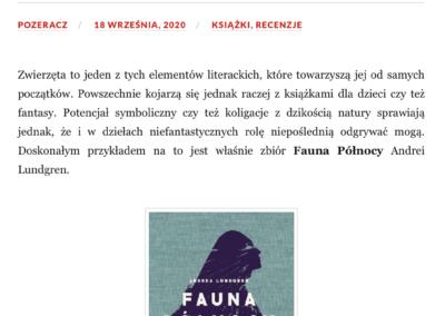 """Qbuś Pożera Książki o opowiadaniach """"Fauna Północy"""""""