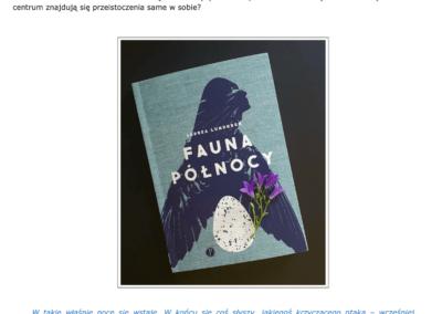"""Szwecjoblog o opowiadaniach """"Fauna Północy"""""""