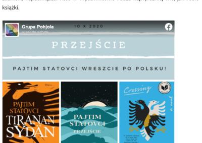 """Grupa Pohjola o powieści """"Przejście"""""""