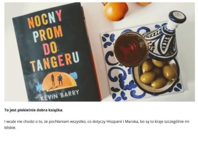 """Hiszpańskie smaki o """"Nocny prom do Tangeru"""""""