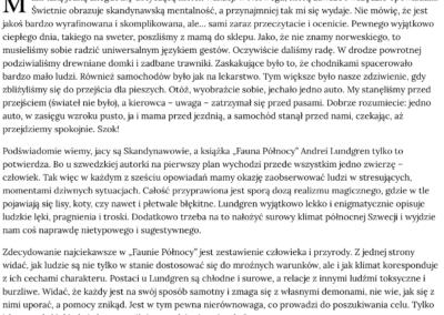 """Michał Wnuk o opowiadaniach """"Fauna Północy"""""""