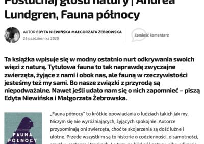 """Zupełnie Inna Opowieść o """"Fauna Północy"""""""