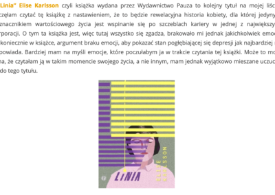 "Blog o książkach o ""Linia"""