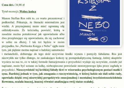 """Krytycznym Okiem o powieści """"Niebieska Księga z Nebo"""""""