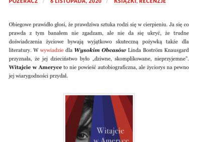 """Qbuś Pożera Książki o """"Witajcie w Ameryce"""""""
