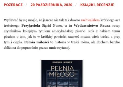 """Qbuś Pożera Książki o powieści """"Pełnia miłości"""""""