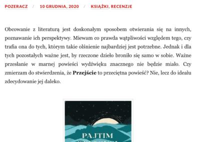 """Qbuś Pożera Książki o powieści """"Przejście"""""""