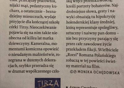 """Tygodnik Powszechny o """"Tirzie"""""""