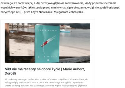 """""""Dorośli"""" w rankingu najlepszych książek 2020 roku według serwisu """"Zupełnie inna opowieść"""""""