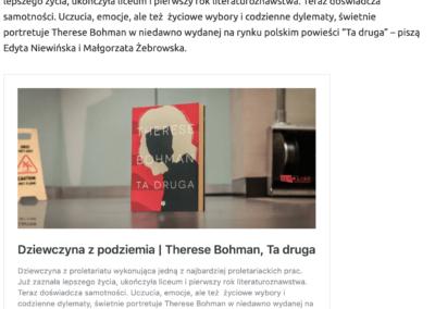 """""""Ta druga"""" w rankingu najlepszych książek 2020 roku według serwisu """"Zupełnie inna opowieść"""""""