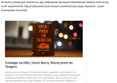"""""""Nocny prom do Tangeru"""" w rankingu najlepszych książek 2020 roku według serwisu """"Zupełnie inna opowieść"""""""