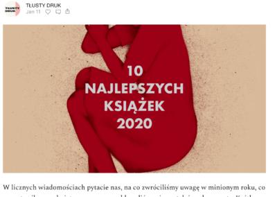 """""""Fauna Północy"""" w rankingu najlepszych książek 2020 roku według serwisu """"Tłusty Druk""""!"""