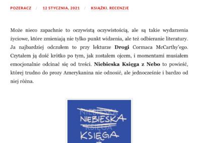 """Qbuś Pożera Książki o powieści """"Niebieska Księga z Nebo"""""""