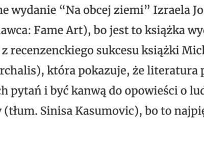"""""""Dziennik upadku"""" w rankingu najlepszych książek 2020 roku według """"Zdaniem Szota"""""""