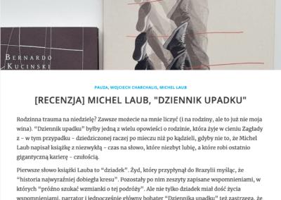 """Zdaniem Szota o powieści """"Dziennik upadku"""""""
