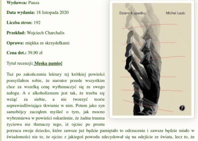 """Krytycznym okiem o powieści """"Dziennik upadku"""""""