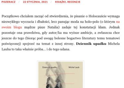 """Qbuś Pożera Książki o powieści """"Dziennik upadku"""""""