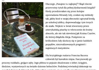"Piknik na skraju książki o ""Pasujesz tu najlepiej"""