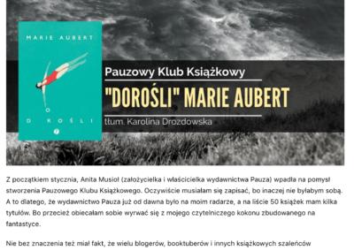 """Iwona Magdalena – Gryzipiórka na emigracji o """"Dorośli"""""""