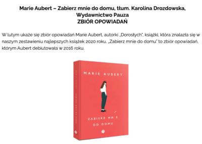 """""""Zabierz mnie do domu"""" na liście najbardziej wyczekiwanych książek 2021 roku według Czytaj PL"""