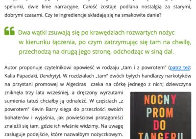 """CzytanieToPrzygoda.pl o """"Nocny prom do Tangeru"""""""
