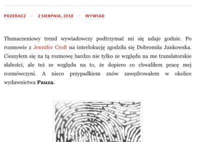 """Wywiad z Dobormiłą Jankowską, autorką tłumaczenia zbioru opowiadań """"Floryda"""""""