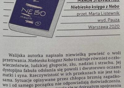 """Fabularie o powieści """"Niebieska Księga z Nebo"""""""